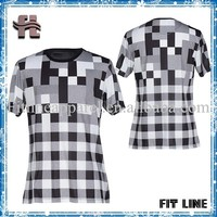 Plaid Fabric T Shirt Round Neck