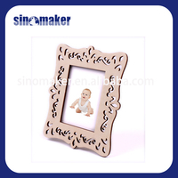 newest natural solid wood photo frame