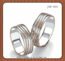 2015 new fashion lover couple titanium silver 316l stainless steel rings