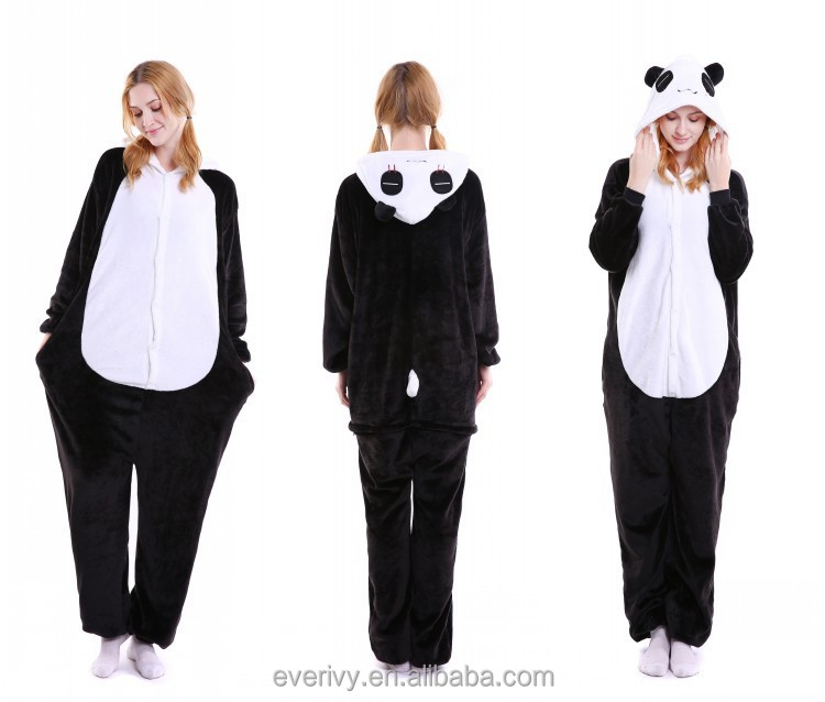onesie panda animal pajamas for adult