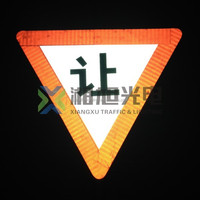 welcomed customized road safety aluminum sign blanks board/ safety triangle board