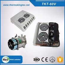 TKT-60V Engine Drive Automobile 12v/24 volt Roof mounted 5.5kw bus air conditioning /conditioner unit for van, mini bus