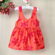 New Year Costume Sundresses Kids Dresses Hot Pink Fashion Dress Children Clothes For Girls Wear 121122-14