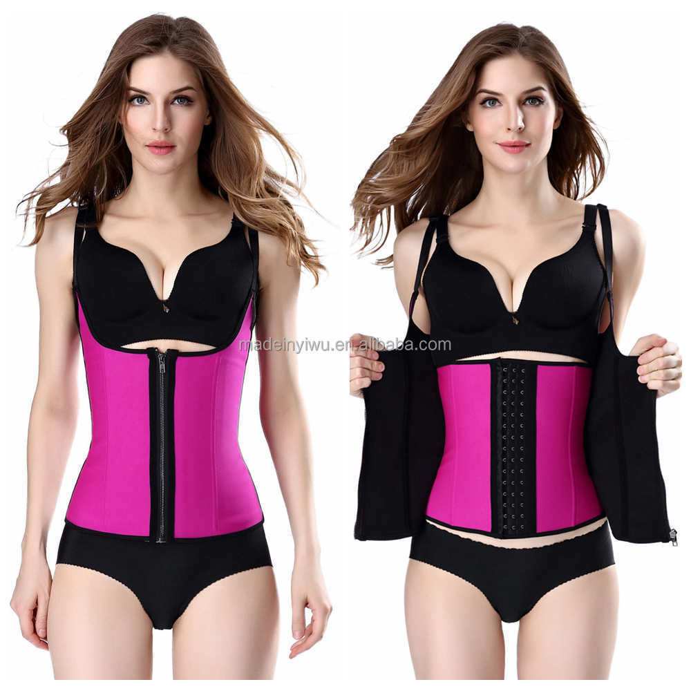 Two layers Zipper Latex Waist trainer for Women