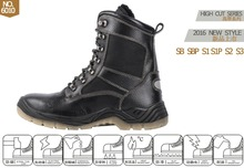 black safety shoes/black work boots/CE approved safety shoes
