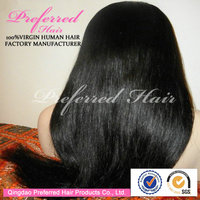 Professional OEM Manufacturer 24'' 1# Color Silky Yaki Straight Cheap Silk Top Full Lace Wigs Accept Paypal&Escrow