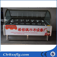 mobile commercial freezing ice cream popsicle upright ice cream freezer display case