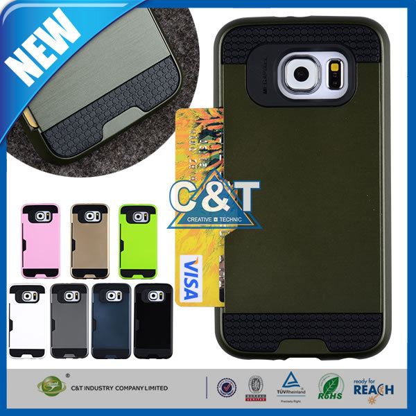 C&T 2in1 Deluxe Mesh Hard Soft High Impact Hybrid Armor Defender Case Combo For Samsung Galaxy Note 5
