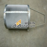 Branded hot sell cp titanium anode basket