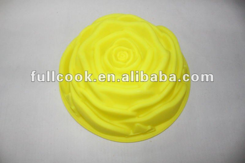 Big Flower-shaped Non-stick Silicone Rose Cake Mold/mould