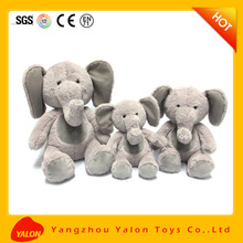Stuffed store cartoon beautiful girl elephant plush toy for babys