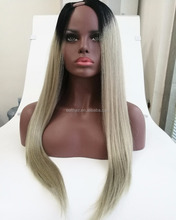 2017 Newest Hair Product Long ombre Fashion U Part Lace Wig For Black Women