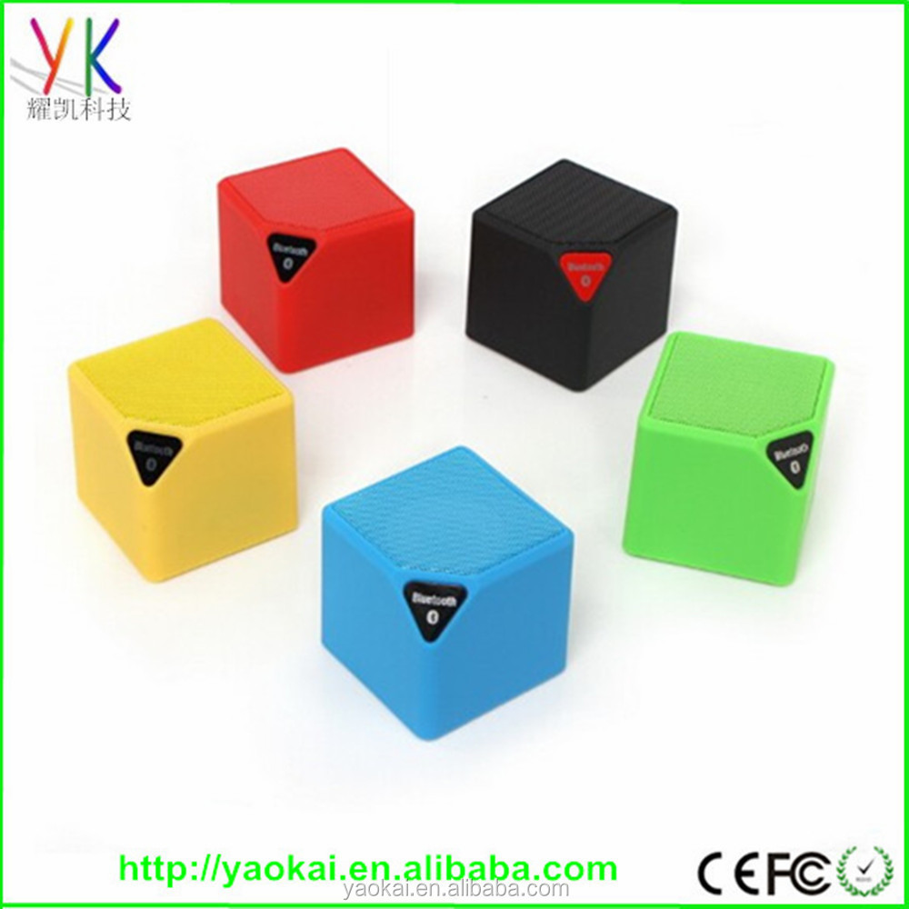 2016 New Mini Bluetooth Speaker Cube Led Speaker With Mic TF USB Wireless Portable Music Player Sound Box Loudspeakers