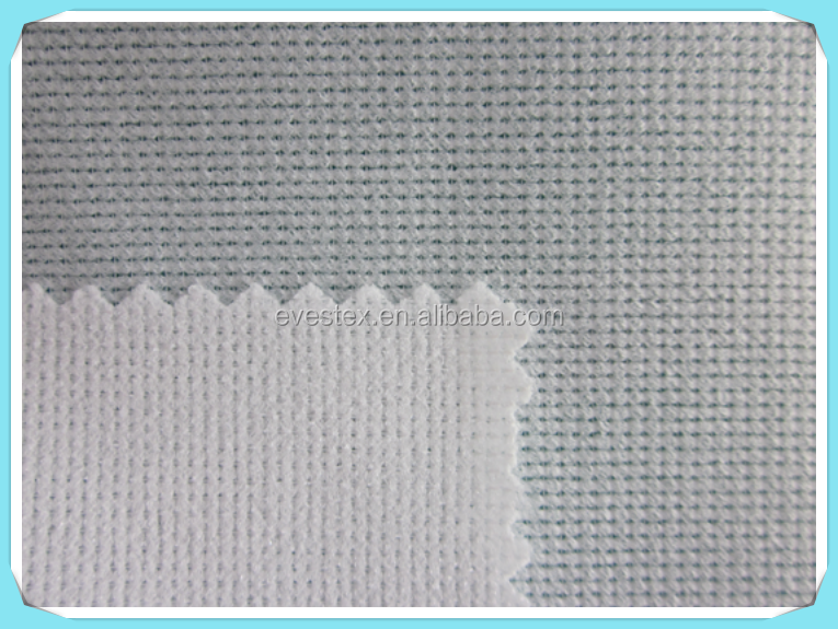 52 gsm double dot knitted PES interlining with PA coating