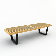 outdoor used modern park wood bench