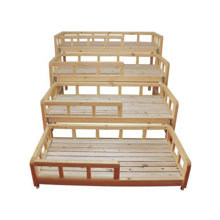Kindergarten folding 4 tier bunk bed