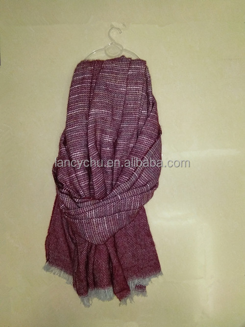 wholesale fashion long scarf 100%acrylic wool fabric