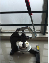 orange and black color Round Sample Cutter Pressure type sampling knife hand pressure disc sample