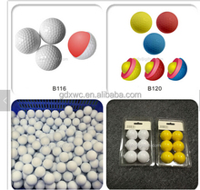 EVA foam material colored eva rubber golf foam ball/foam ball pool/toy balls