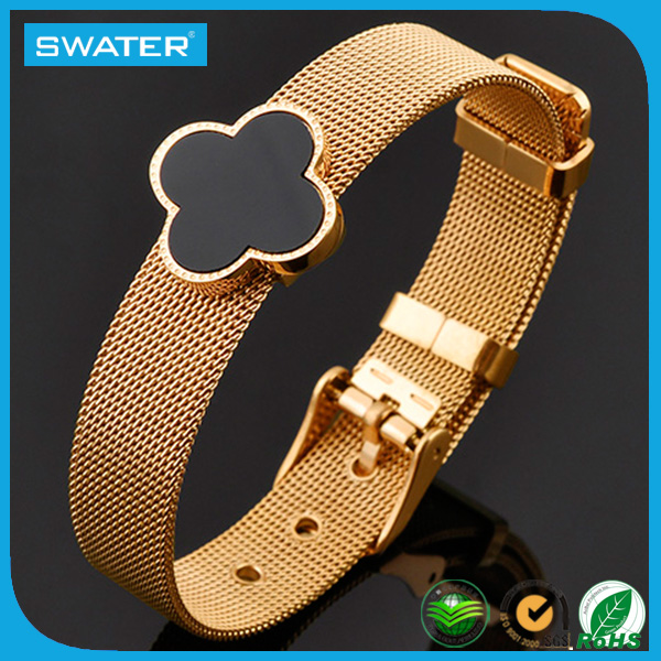 Fashion Accessories Women 18K Gold Mesh Bracelet