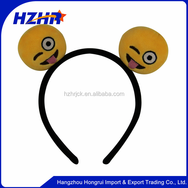 Party Accessories Free sample Emoji Emoticon Headband Hair Band Hair