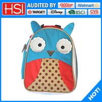 2016 new polyester animal shape insulated kids lunch cooler bag
