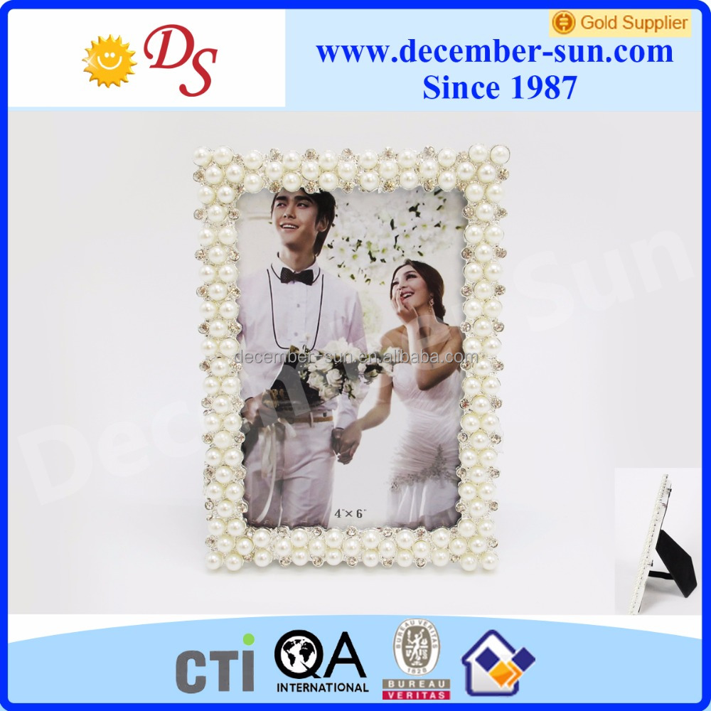 New design silver gold metal photo frame