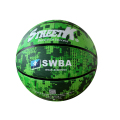 rubber made new style colorful official size basketball green butyl basketball