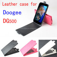 Custom Design Up-Down Flip Leather Case For Doogee DG500