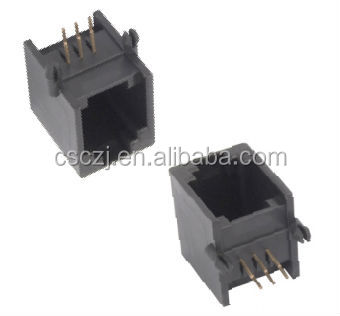 Top Entry RJ12 PCB Telephone connector/Jack/socket