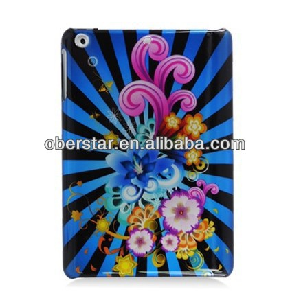 pin-back tablet pc case cover for ipad mini2 / hard plastic protective cover for ipad mini