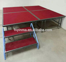 Iron frame used portable stage for sale for events