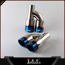 Wenzhou SS304 burnt two inlets exhaust pipe for universal