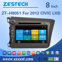 car multimedia system for Honda civic 2012 LHD car dvd multimedia player with Radio RDS bluetooth 3G car gps navigation system