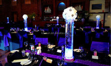 wholesale high quality decorative led light for table/vase with light crystal stand