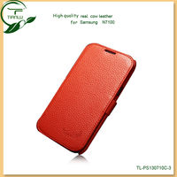 Hot Sell Caller ID Leather Flip Case Cover for Samsung Galaxy Note 2 N7100 Case,latest fashion design cell phone case