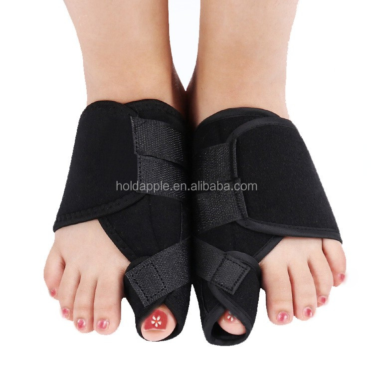 Bunion Crooked Toes Corrector Splint Fits Night, Big Toe Alignment Straightener Pain Relief with Stitched Velcro HA00535