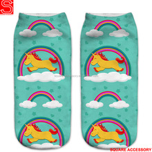 High Elastic Dye Sub Sock Sublimation Funky 3D Custom Ankle Sock