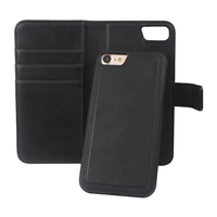 2 in 1 Design Card Stand Magnetic Detachable Wallet Leather Case For IPhone 5 6 7 8 X