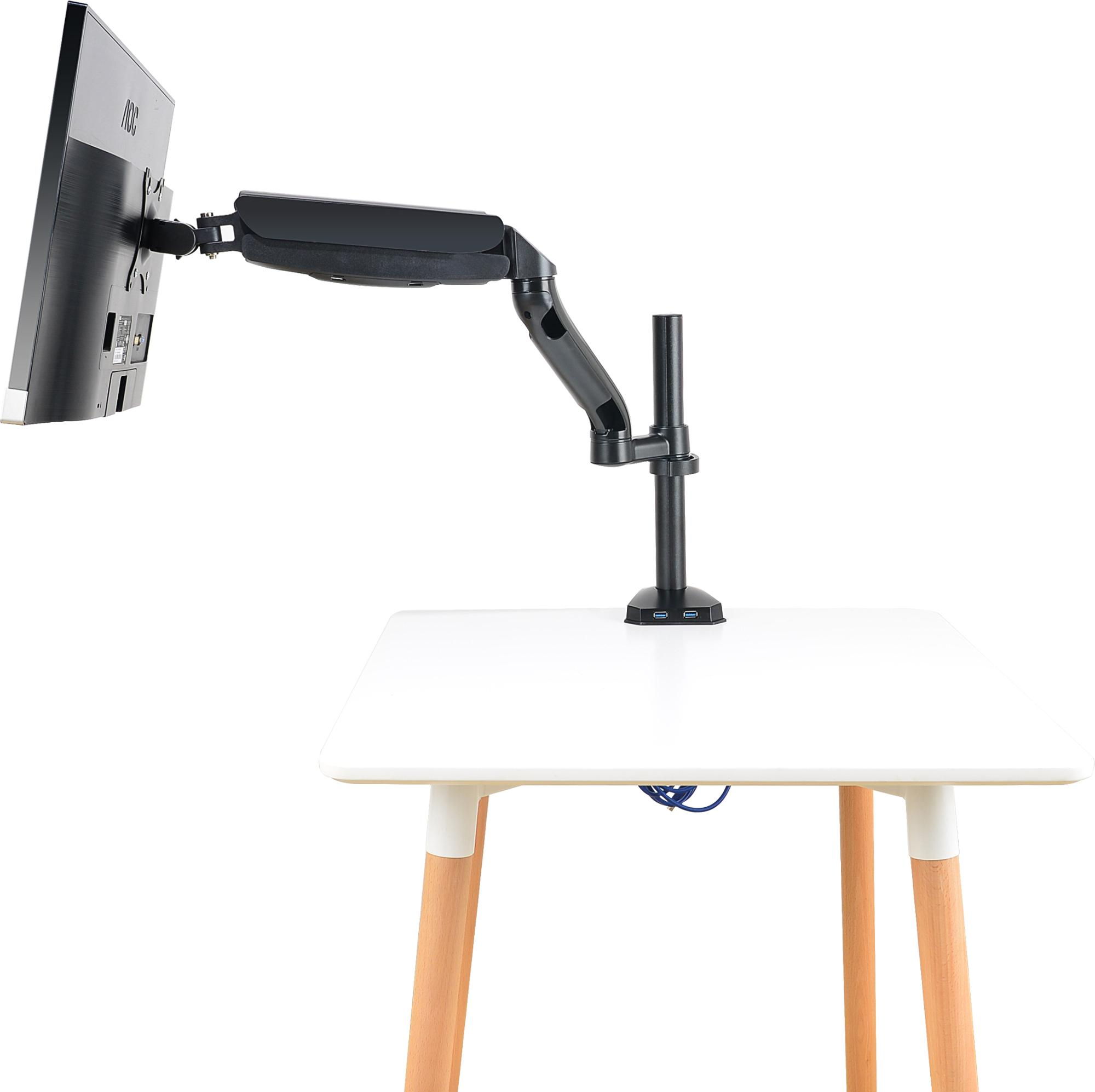 JLT Gas Sping Aluminum  360 Degrees  LCD Monitor Desk Mount Stand