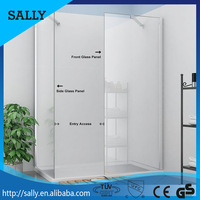 SALLY 600mm enter access china supplier glass walk-in shower door