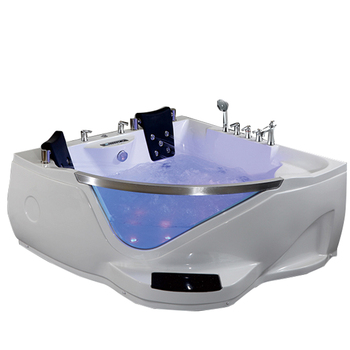 HS-B219 coffee color air bubble corner massage double whirlpool bathtubs