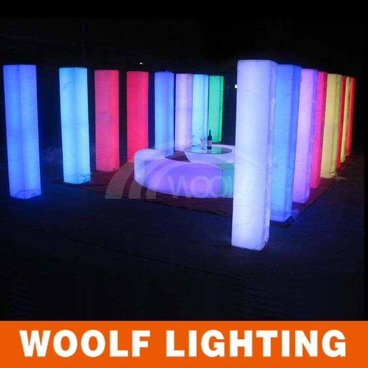 LED Square column Square pillar for wedding outdoor used