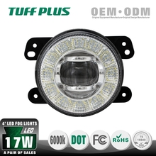 New design DOT approved 4inch round Jeep wrangler led fog lights with DRL