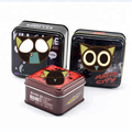 Customize Empty  Square Black Tins