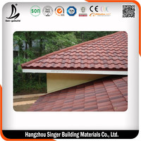 Color Stone Coated Spanish Style Roof Tiles Prices
