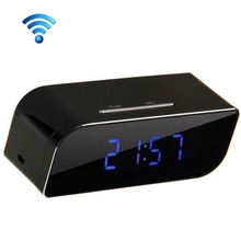 HOT! 2P Network Mini IP Camera H.264 HD 720P Wifi Clock Camera Supporting Night Vision / Motion Detection