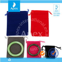 manufacturer customized small velvet jewelry pouch bags