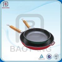 cast iron cookware color printed enamel ware