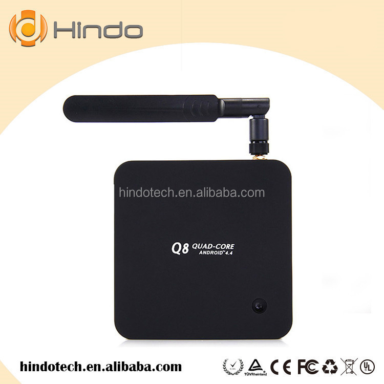 Q8 tv box Rockchip rk 3288 tv box 2G/8G SD Card Optical XBMC Smart TV Receiver